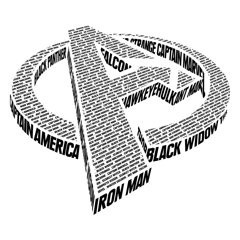 Avengers logo design by Jose Rey