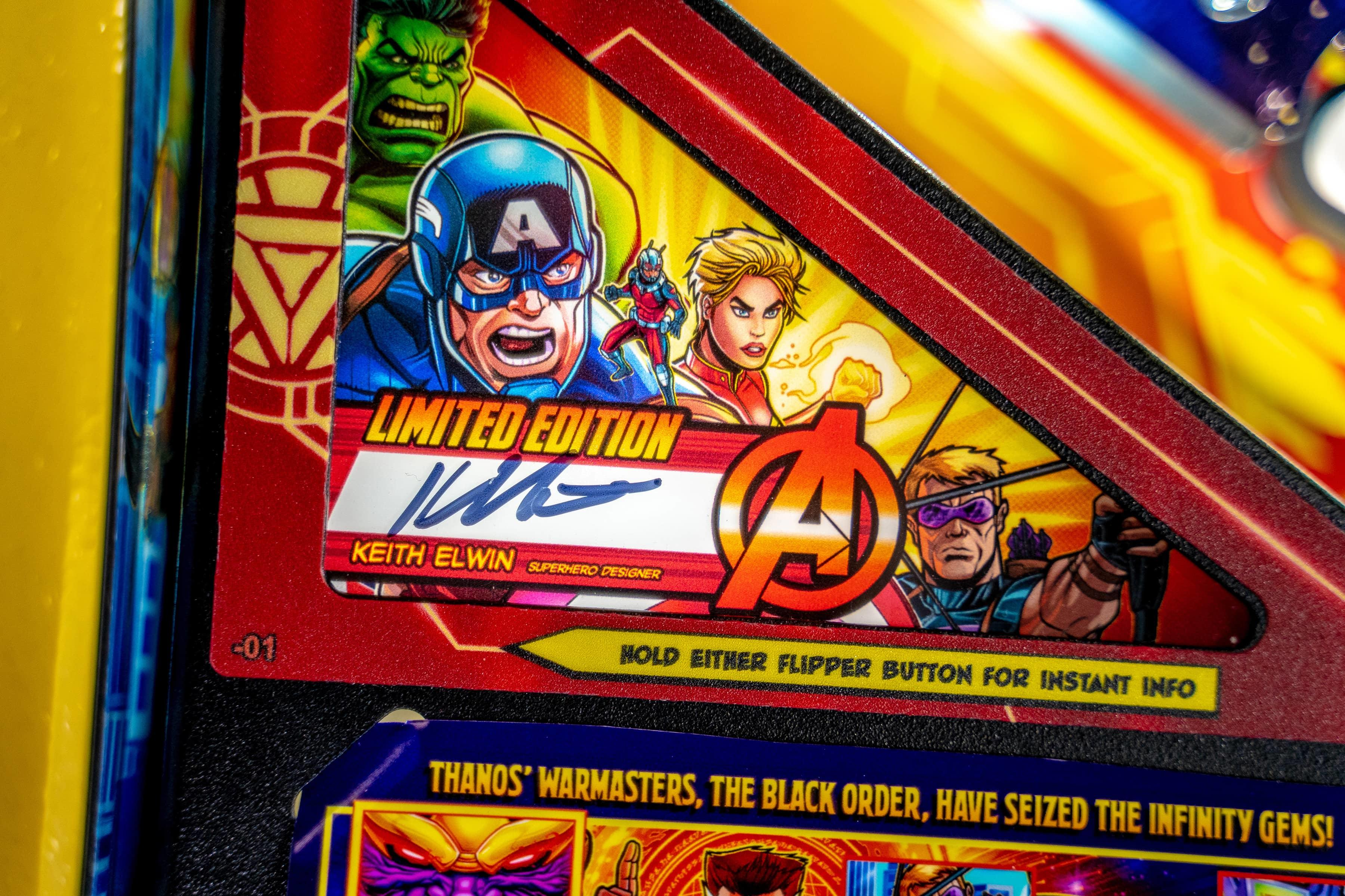 AVENGERS: INFINITY QUEST pinball Limited Edition Model