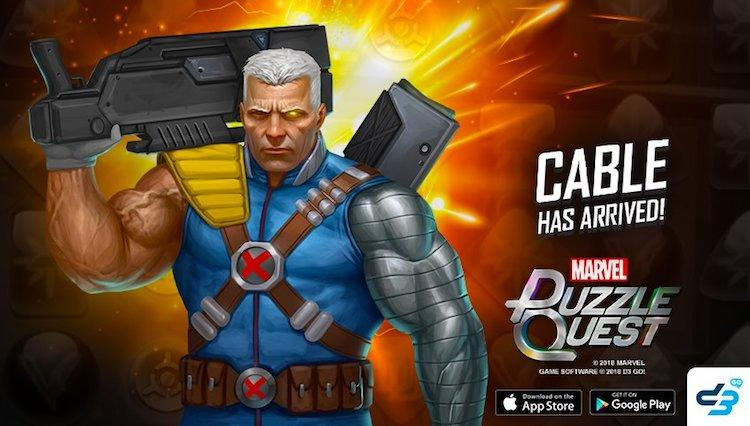 Cable (Nathan Summers) joins Marvel Puzzle Quest this week