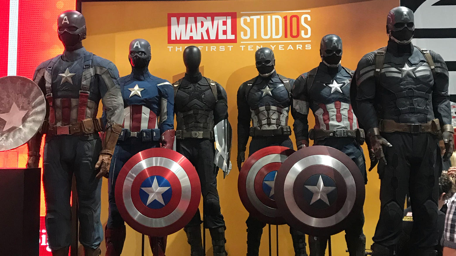 Captain America Costumes on Display at San Diego Comic-Con