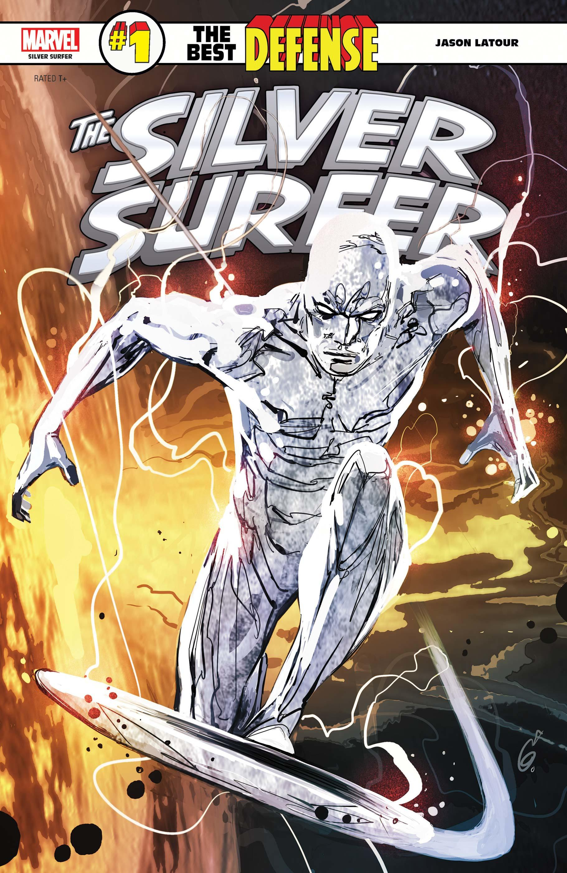 Silver Surfer: The Best Defense (2018) #1 cover by Ron Garney