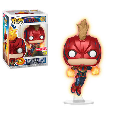 Pop! Captain Marvel flying
