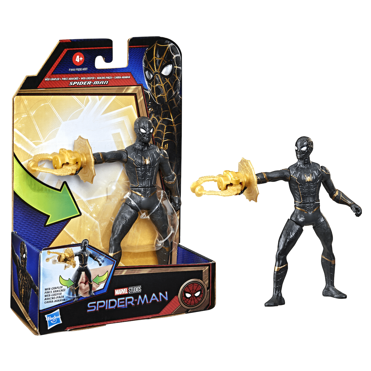 """Spider-Man 6"""" Black and Gold Suit"""