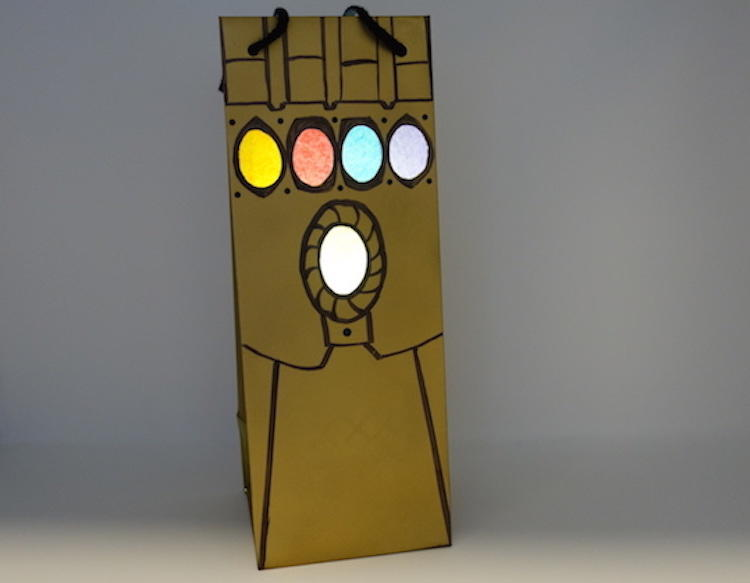 Infinity Gauntlet Trick or Treat Bag DIY Craft