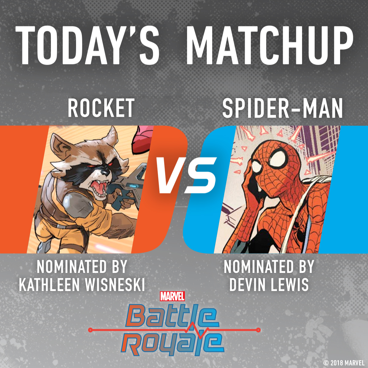 Rocket vs. Spider-Man