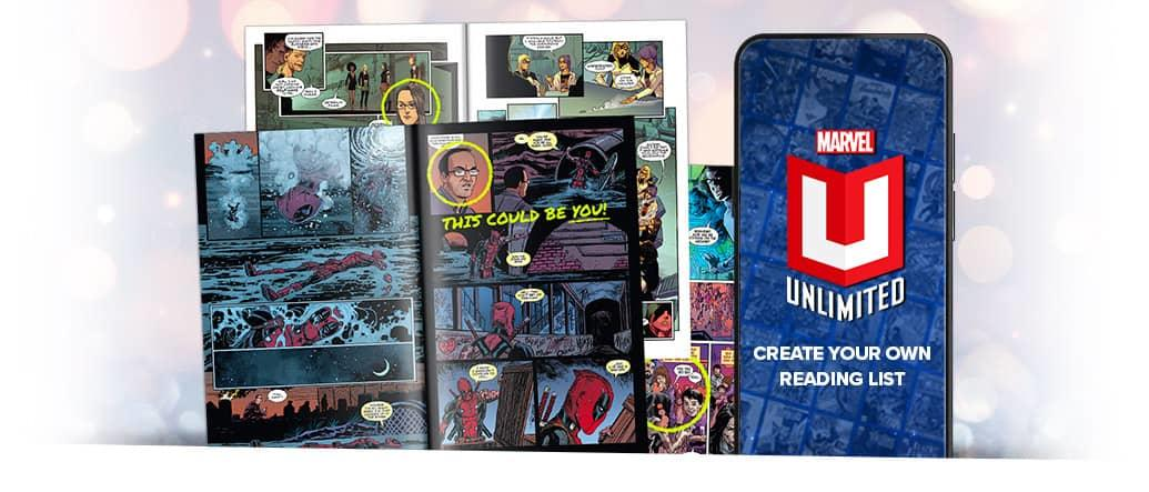 One-of-a-kind Marvel experiences – be drawn into a Marvel comic, create your own Marvel reading list