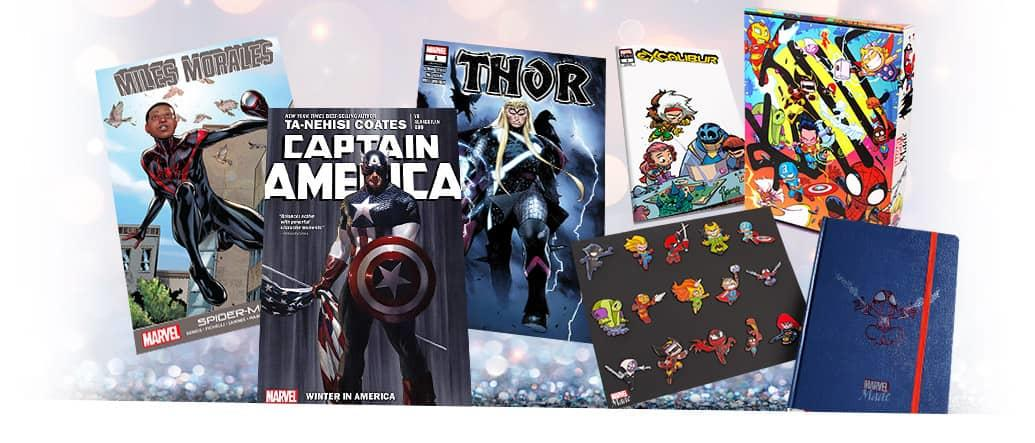 Chances to win special Marvel items! Skottie Young Marvel Made bundle and comic books.