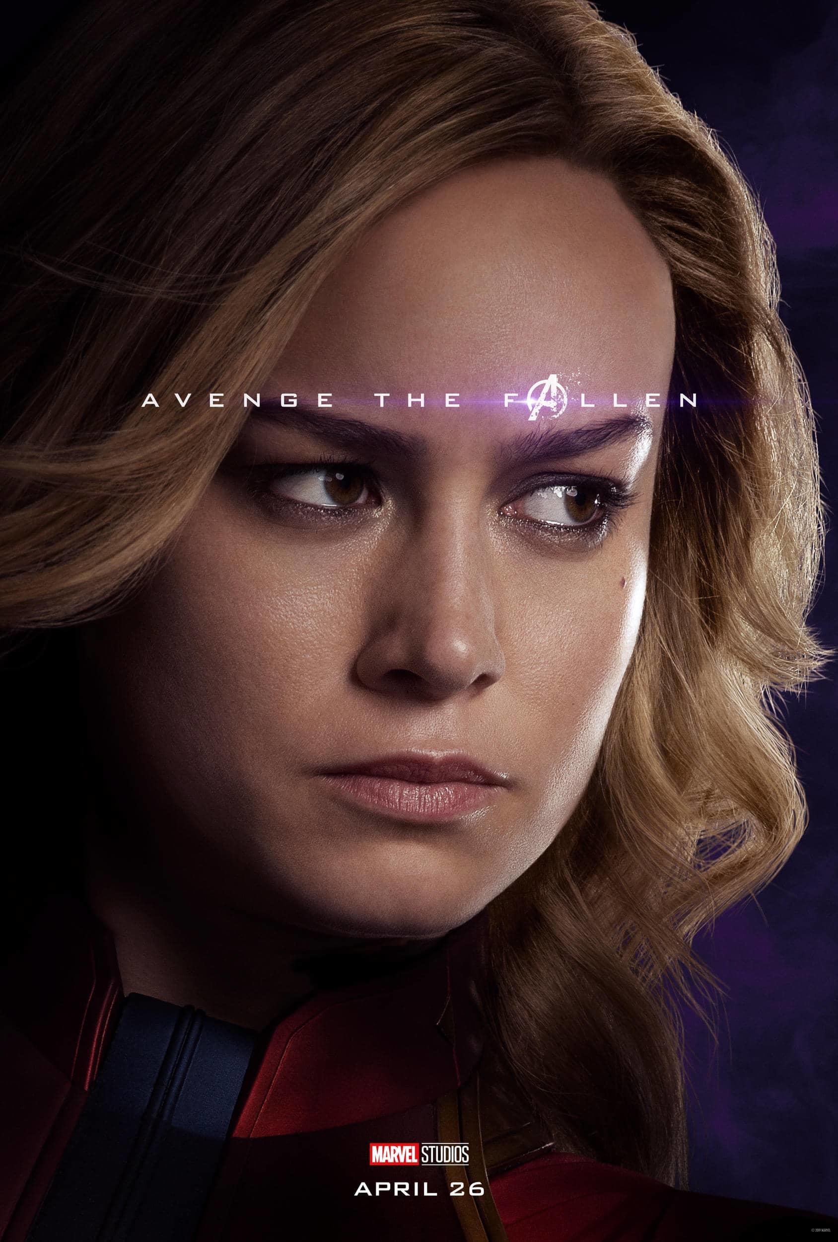 Marvel Studios' Avengers: Endgame Movie Poster Captain Marvel (Carol Danvers) Brie Larson