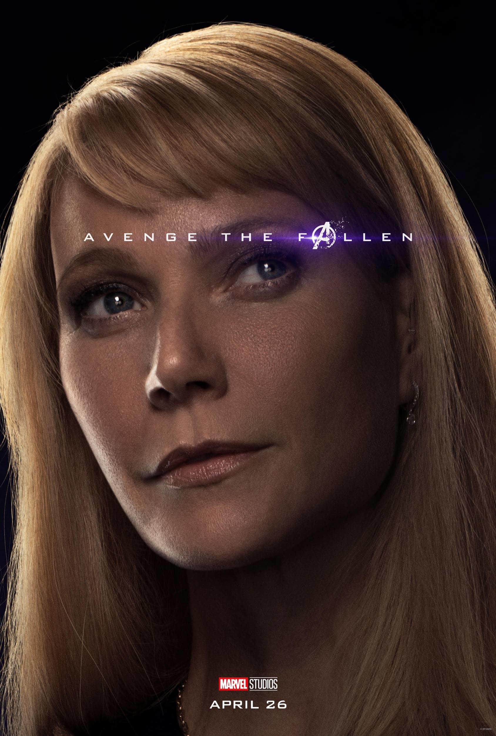 Marvel Studios' Avengers: Endgame Movie Cast Pepper Potts Gwyneth Paltrow