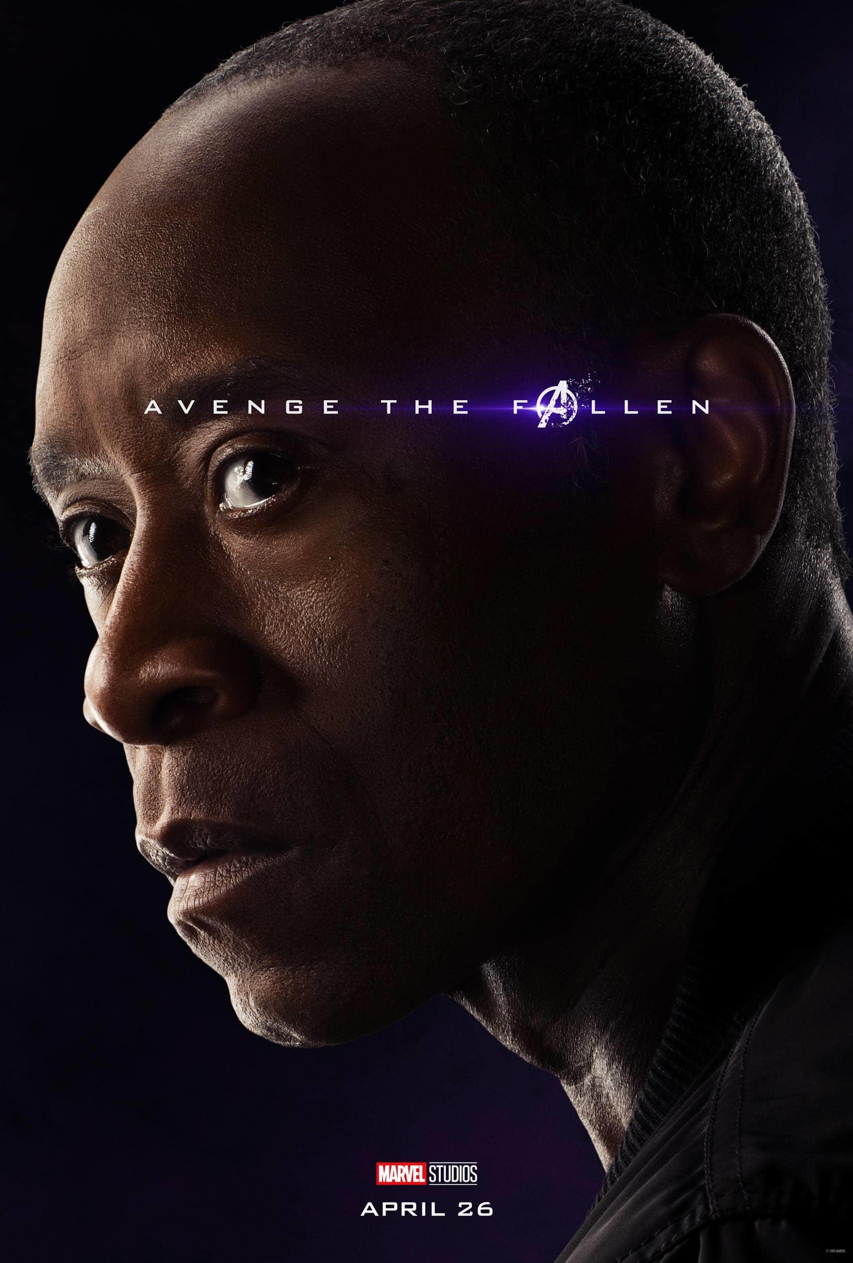 Marvel Studios' Avengers: Endgame Movie Cast War Machine (James Rhodes) Don Cheadle