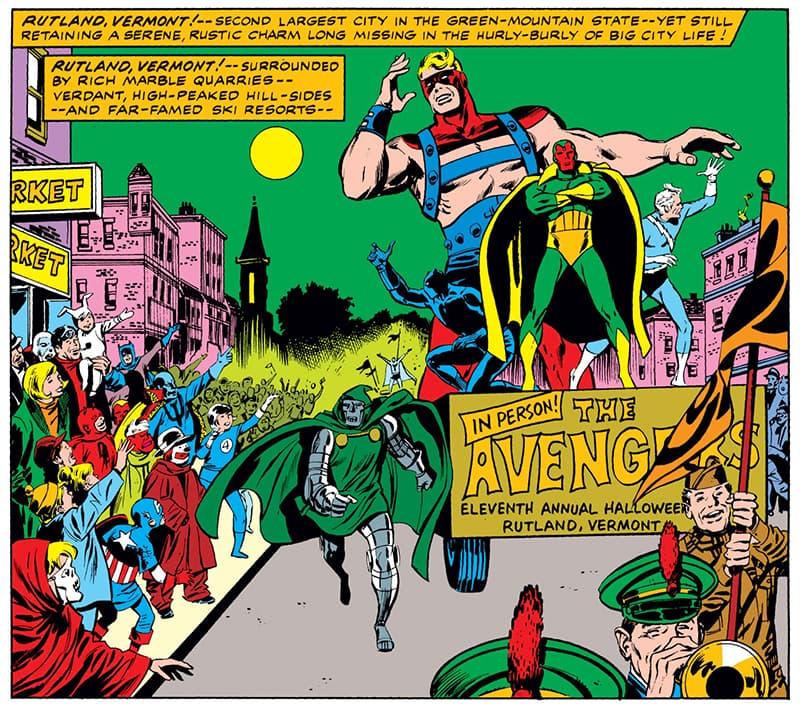 Avengers visit the Rutland Halloween Parade