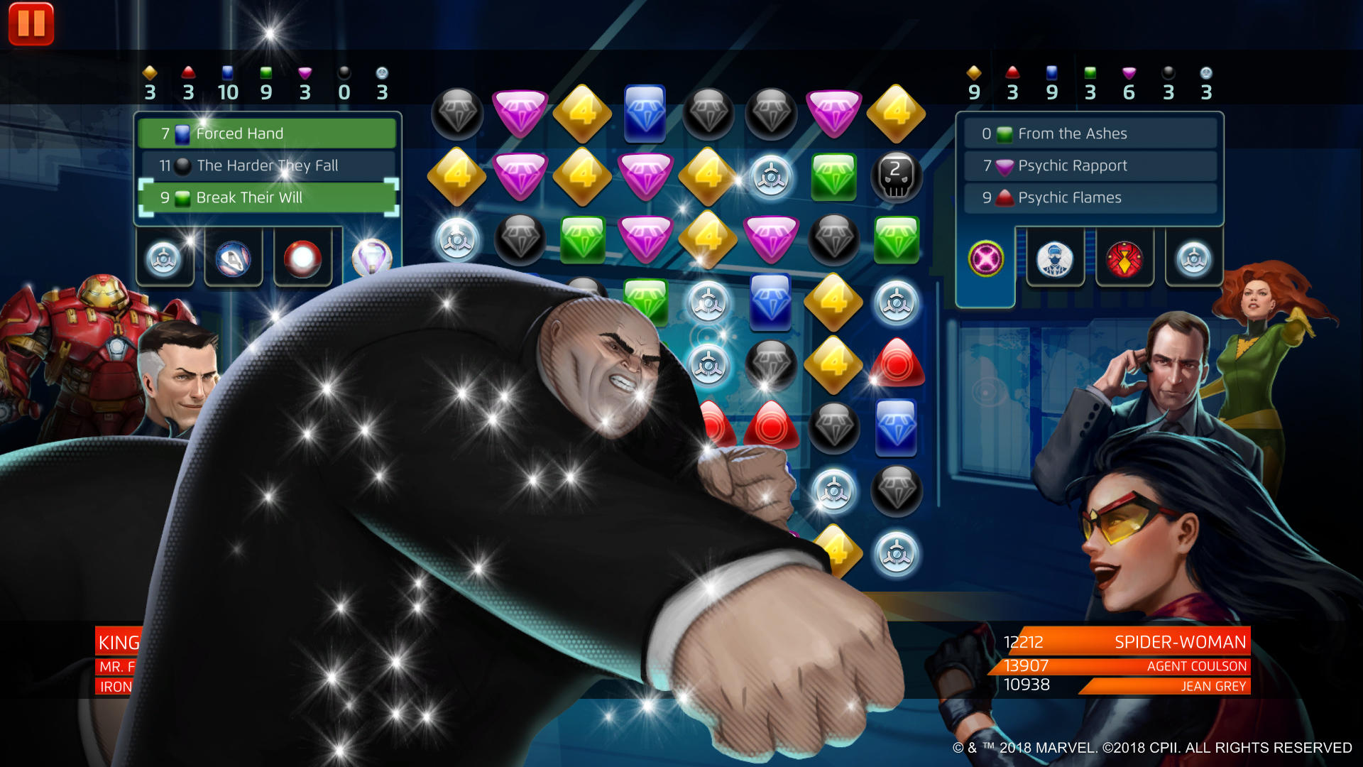 Marvel Puzzle Quest - Kingpin Break Their Will