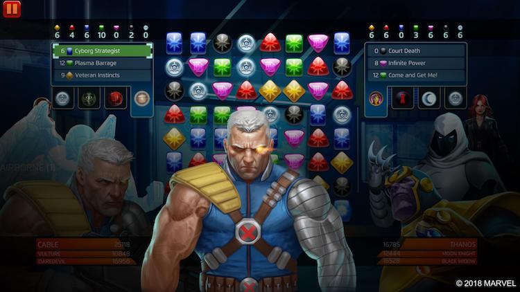 Marvel Puzzle Quest - Cyborg Strategist power