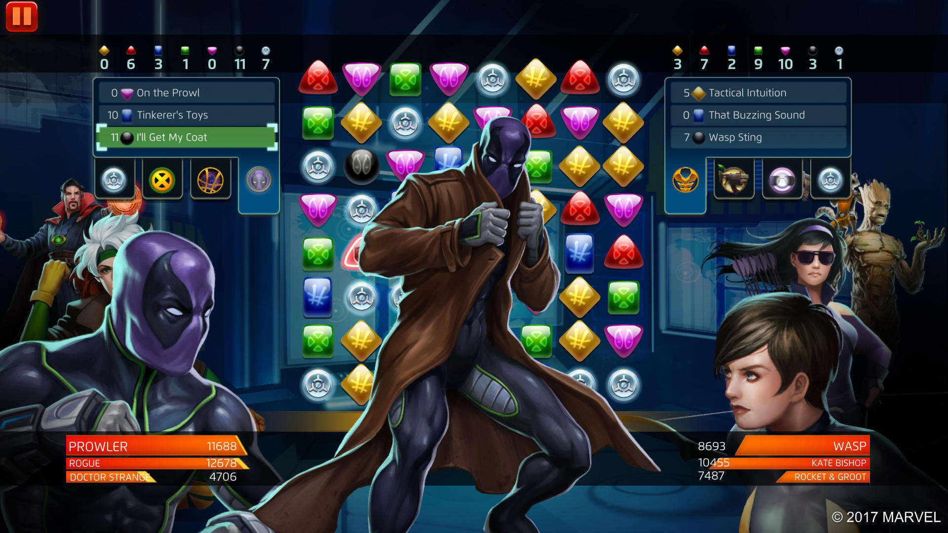 Marvel Puzzle Quest - Prowler - I'll Get My Coat