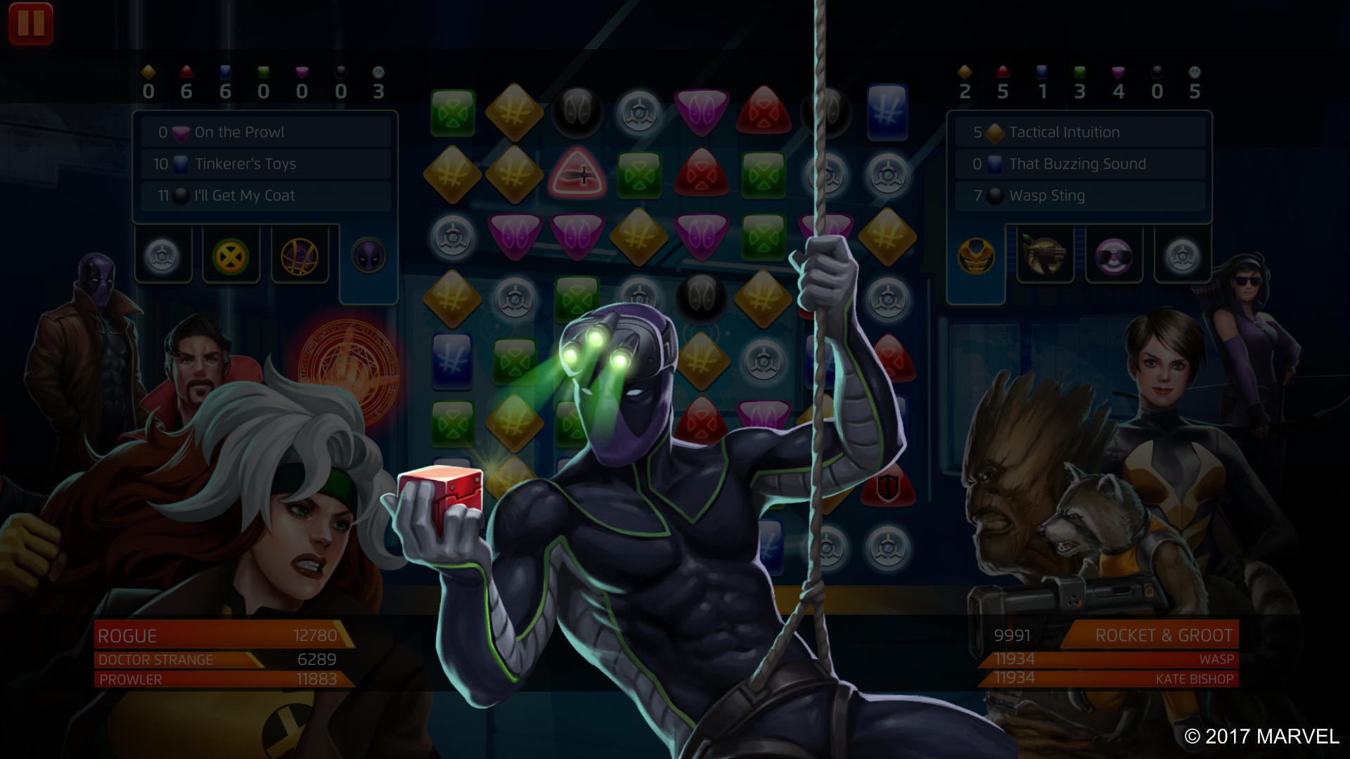 Marvel Puzzle Quest - Prowler - On the Prowl