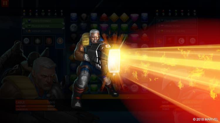 Marvel Puzzle Quest - Cable - Plasma Barrage power