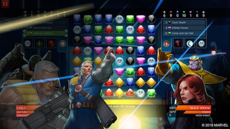 Marvel Puzzle Quest - Cable - Veteran Instincts power