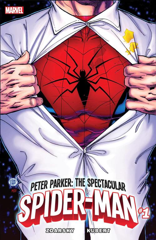 Peter Parker: The Spectacular Spider-Man #1 cover by Adam Kubert
