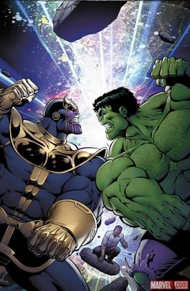 Thanos Vs. Hulk #1 cover by Jim Starlin