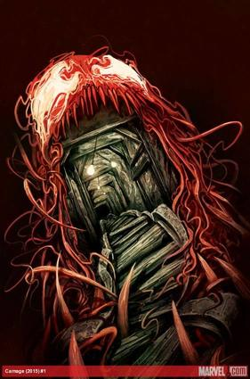 Carnage (2015) #1 cover by Mike Del Mundo