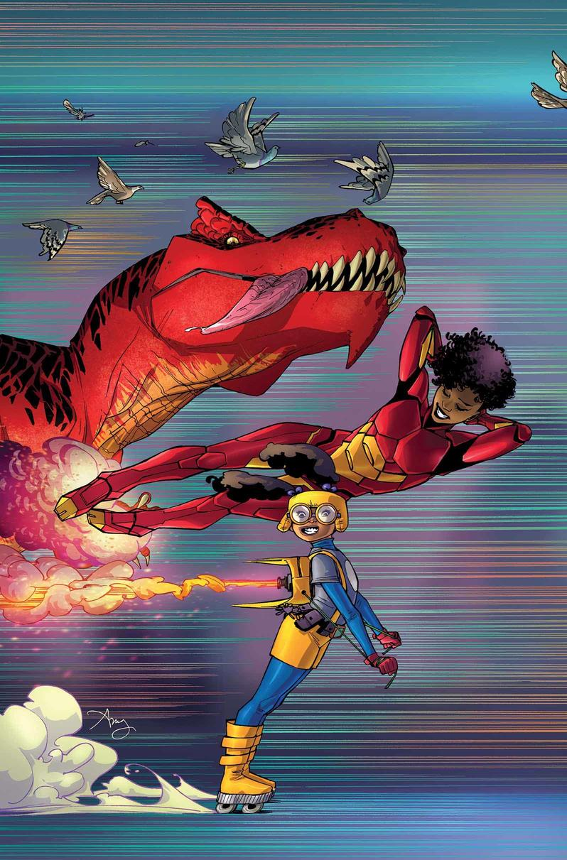Moon Girl and Devil Dinosaur #15 cover by Amy Reeder